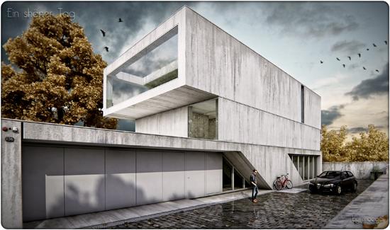 3d render fachada ( by moegdl )